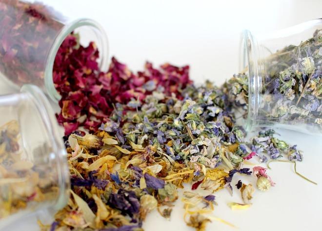 Сушенные травы для чая