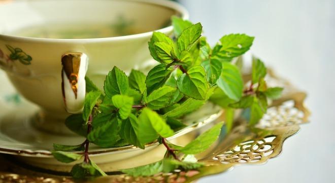 Чай с зеленой мятой