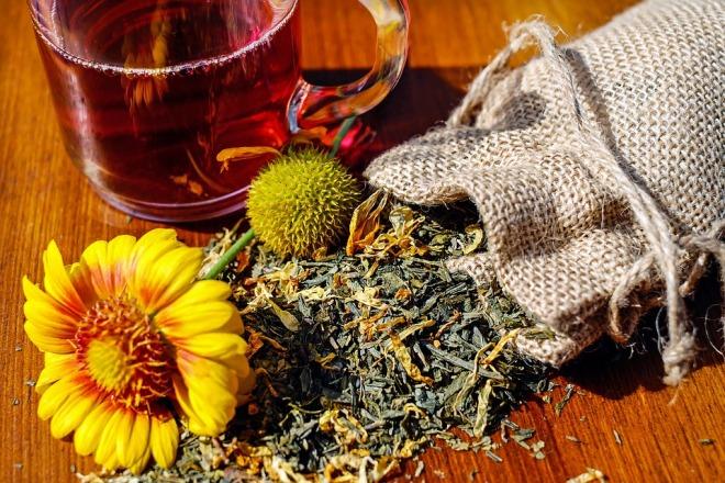 Чай с сушенными травами