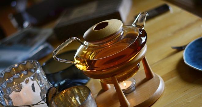 Стеклянный заварник для чая