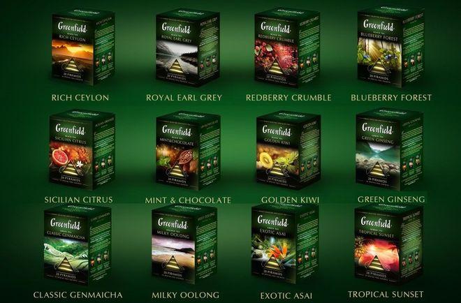 Коллекция чая разных сортов