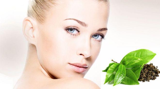 Лепестки зеленого чая для кожи лица