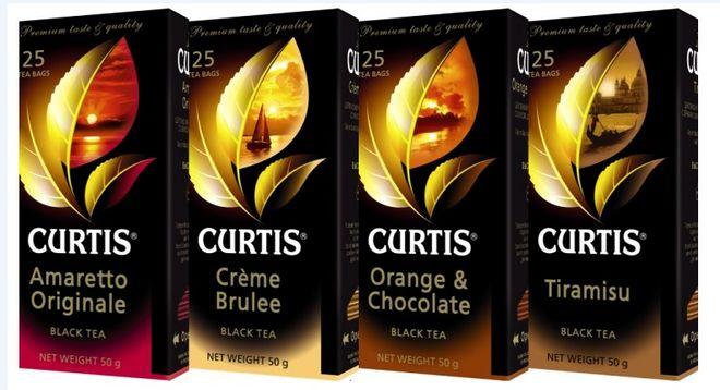 Пачки чая Curtis