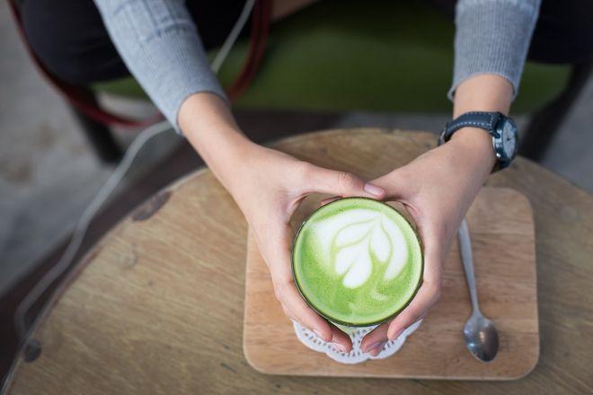 Латте с зеленым чаем