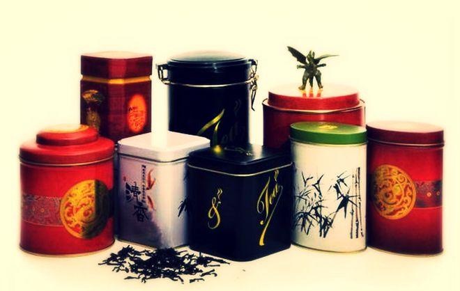 Жестяные банки для хранения чая