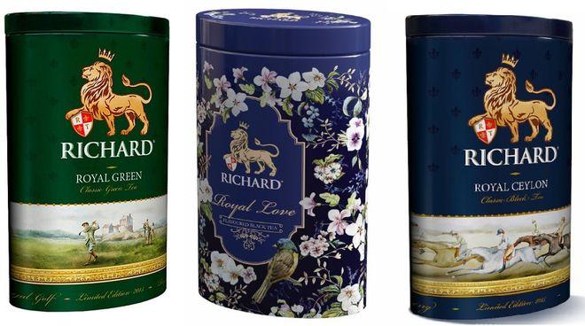 Три упаковки чая Ричард