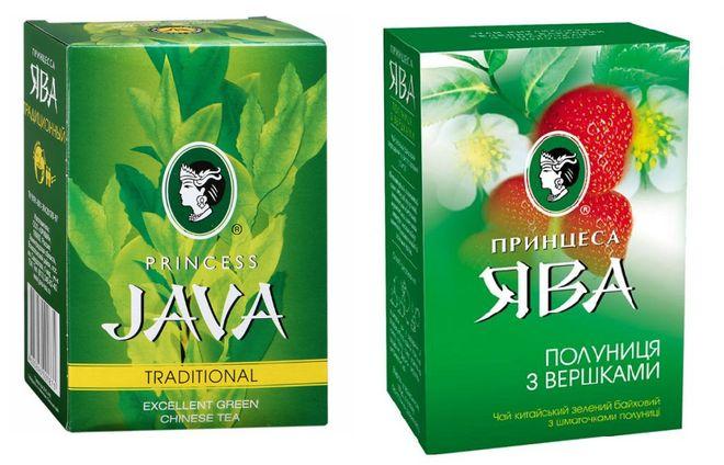 Чай Ява в упаковках