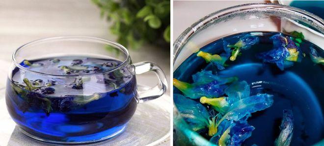 Пурпурный цветочный чай